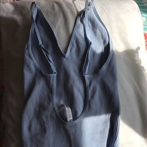 Urban outfitters baby blue strapless back shirt